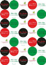 Christmas 37mm Round Paper Stickers Three Sheets LOTS Of Designs